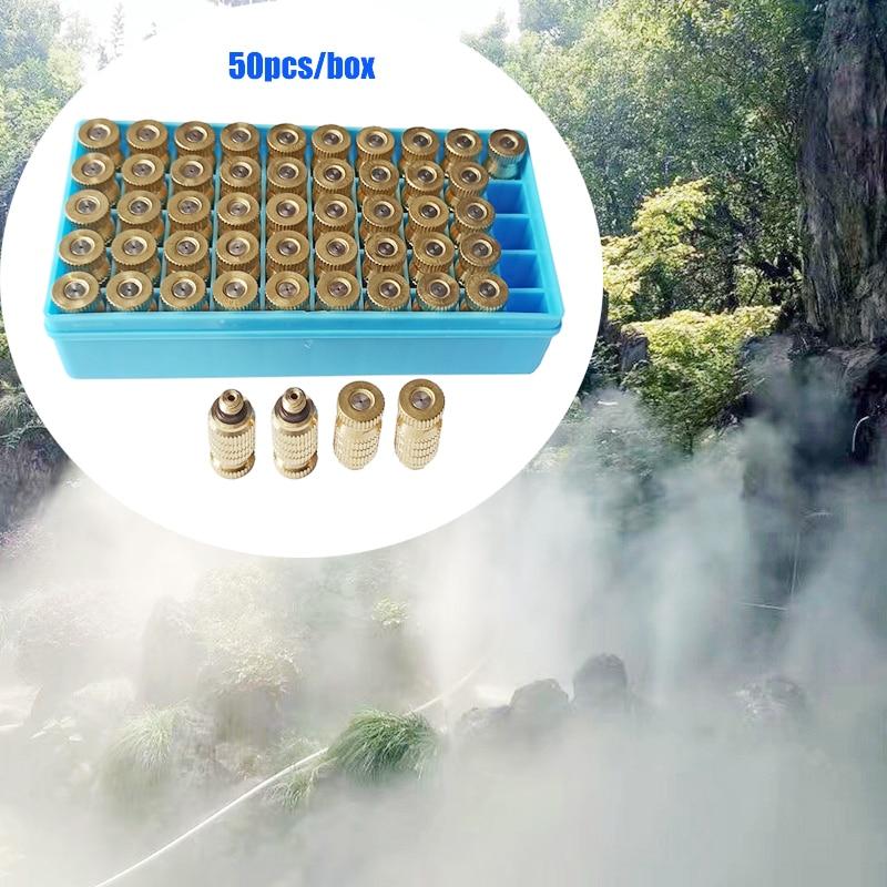 E494 50 unids/caja boquilla de niebla de latón para sistema de enfriamiento de niebla de alta presión 20-60 Bar boquillas de latón