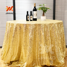 Good Quantity Elegant Gold Round Sequin Tablecloth Wedding