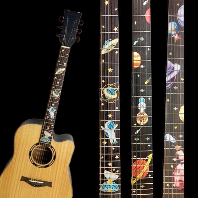 NEW  Guitar Fretboard Decals Inlay Sticker Guitar Neck Headstock  Guitarra Bass Ukulele Thin Sticker Guitarra Accessories