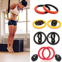 2Pcs High Quality Heavy Duty ABS Plastic 28mm Exercise Fitness Gymnastic Rings With Foam Handle Gym Crossfit Pull Ups A