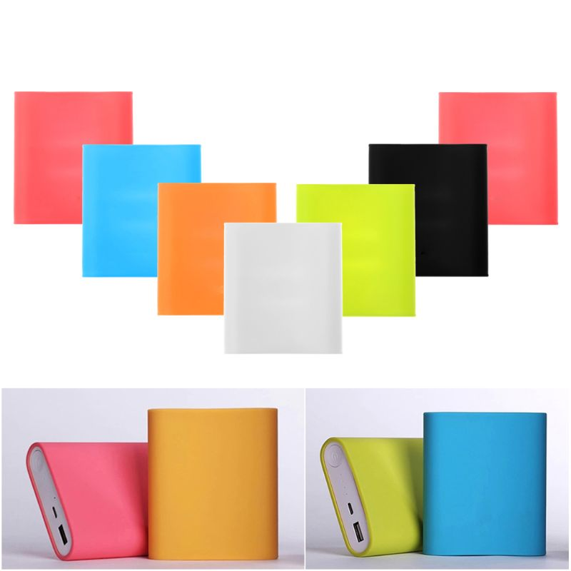 Silicone Soft Rubber Cover Protector Sleeve For Xiaomi Power Bank 10400 MAh LX9A