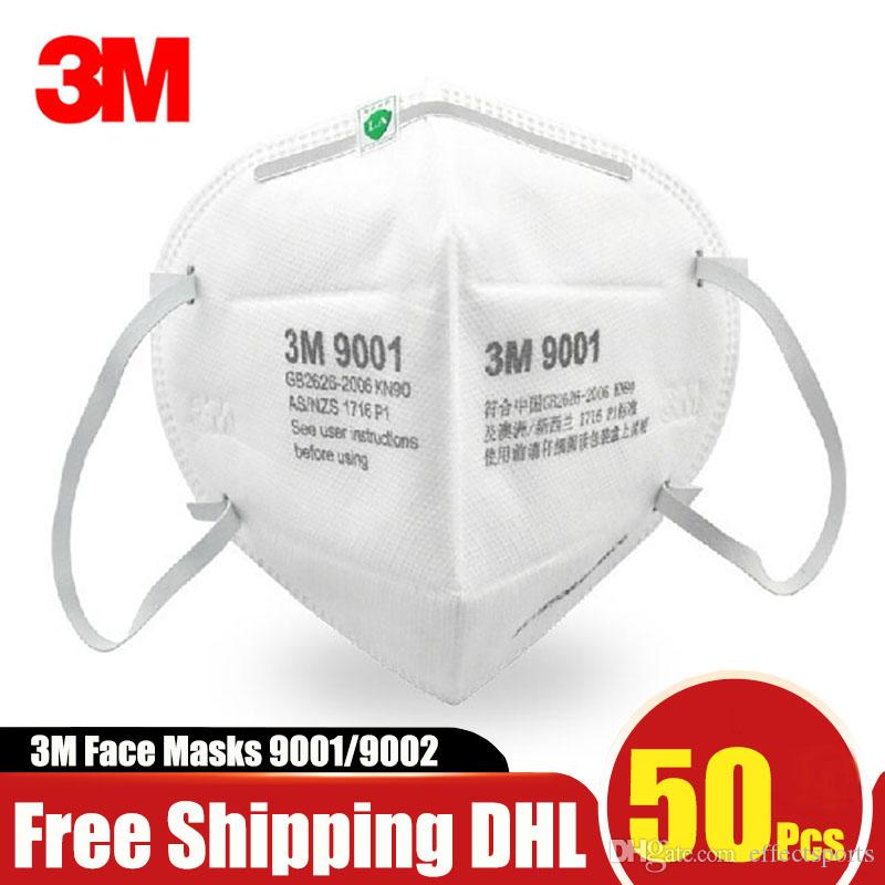 3M KN95 Mask 9001 9002 Mouth Face Masks Anti Dust Against Droplet Allergies N95 PM2.5 Smoke Safety Mask Free Shipping DHL