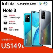 Infinix Note 8 глобальная Версия Мобильный телефон 6 ГБ 128 64-мегапиксельная четырехъядерная камера 5200 мА/ч, Батарея 18 Вт быстрый заряд спирально G80 ...
