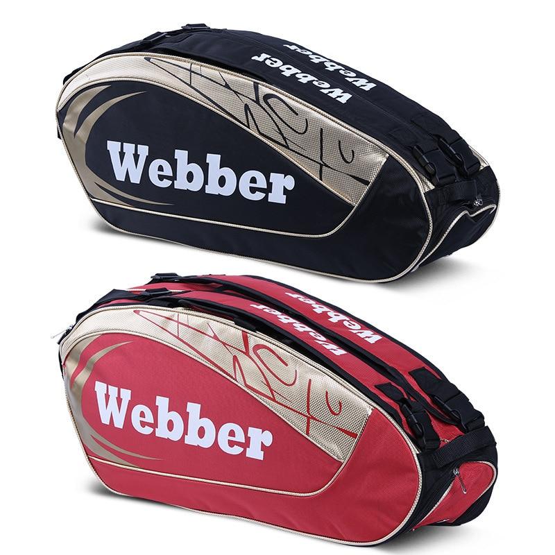Large Badminton Bag Portable Tennis Racket Badminton Shoes Backpack Fishing Athlete's Sports Training Bag 6-12 Pcs Rackets