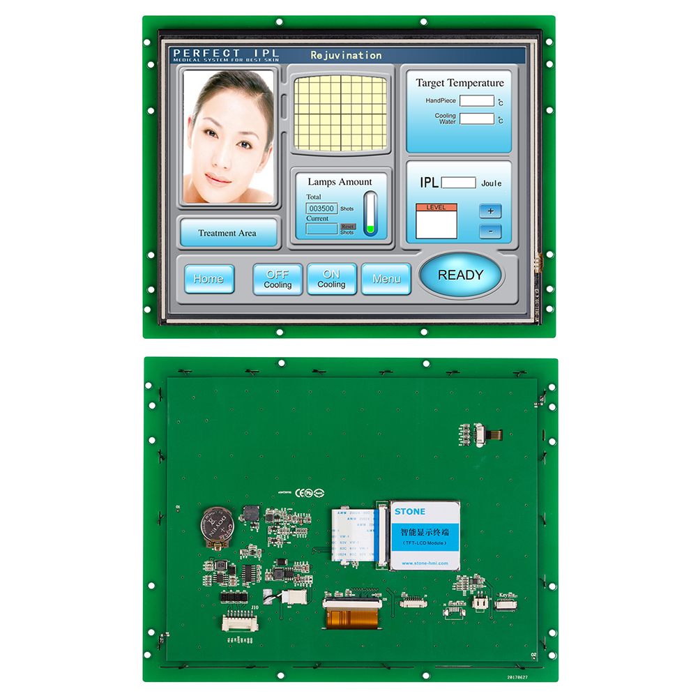 Intelligent TFT LCD Panel 10.4 Inch Smart Monitor With CPU +Serial Interface For Smart Home