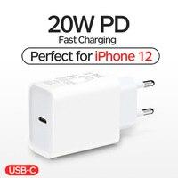 20W USB C caricabatterie adattatore telefono da parete ricarica rapida 100-240V PD tipo-c spina per iPhone 12mini/12 Pro Max Huawei Xiaomi Carregador