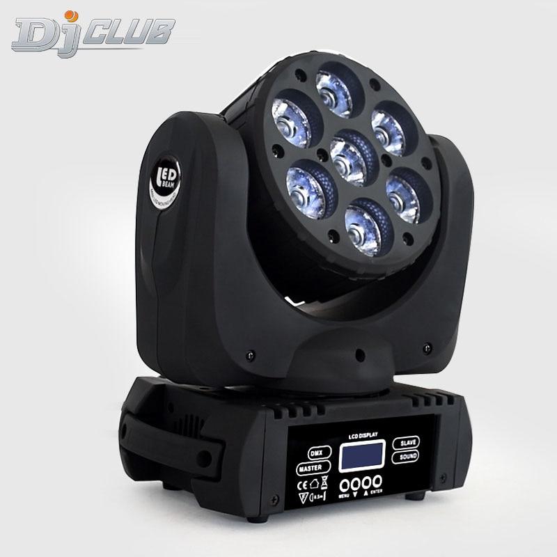 Led Wash Beam Rgbw 7x12w Moving Head Light DMX 512 15Channels Dj