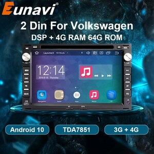 Eunavi 2 Din Android 10 Car DVD Radio multimedia player GPS For VW Volkswagen PASSAT B5 MK4 MK5 JETTA BORA POLO TRANSPORT T5 DSP