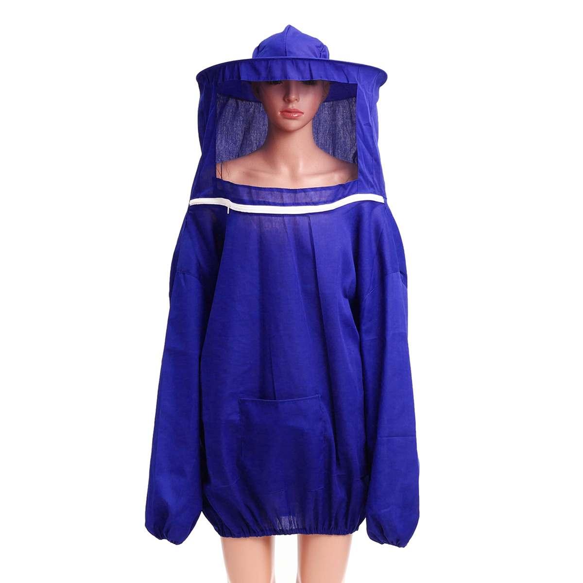 Anti Bee Beekeeper Suit Unisex Beekeeping Protective Clothing Costume Jacket Coat Defens Extensible With Hood Home Supplies