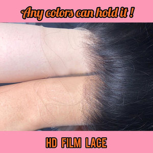 Image 4 - מים גל 13X6 תחרה מול שיער טבעי פאות לנשים שחורות מזויף קרקפת עמוק 360 תחרה פרונטאלית פאה רמי סגירת HD שקוף תחרה