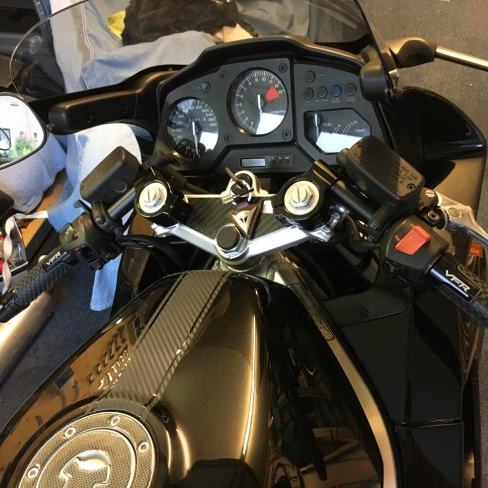 43 50 51mm garfo tubo cnc volante cafe racer clipe em barras