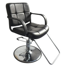 Leather & Metal Hydraulic Styling 8837 Woman Salon Barber Chair Stool Hairdressing Nail Black