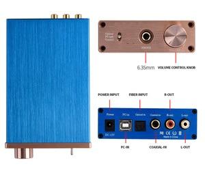 Image 4 - Kỹ Thuật Số Bộ Giải Mã Âm Thanh USB DAC Đầu Vào USB/Coaxial/Optical Đầu Ra RCA/6.35 Mm 192KHz DC12V Tai Nghe bộ Khuếch Đại Âm Thanh Chuyển Đổi