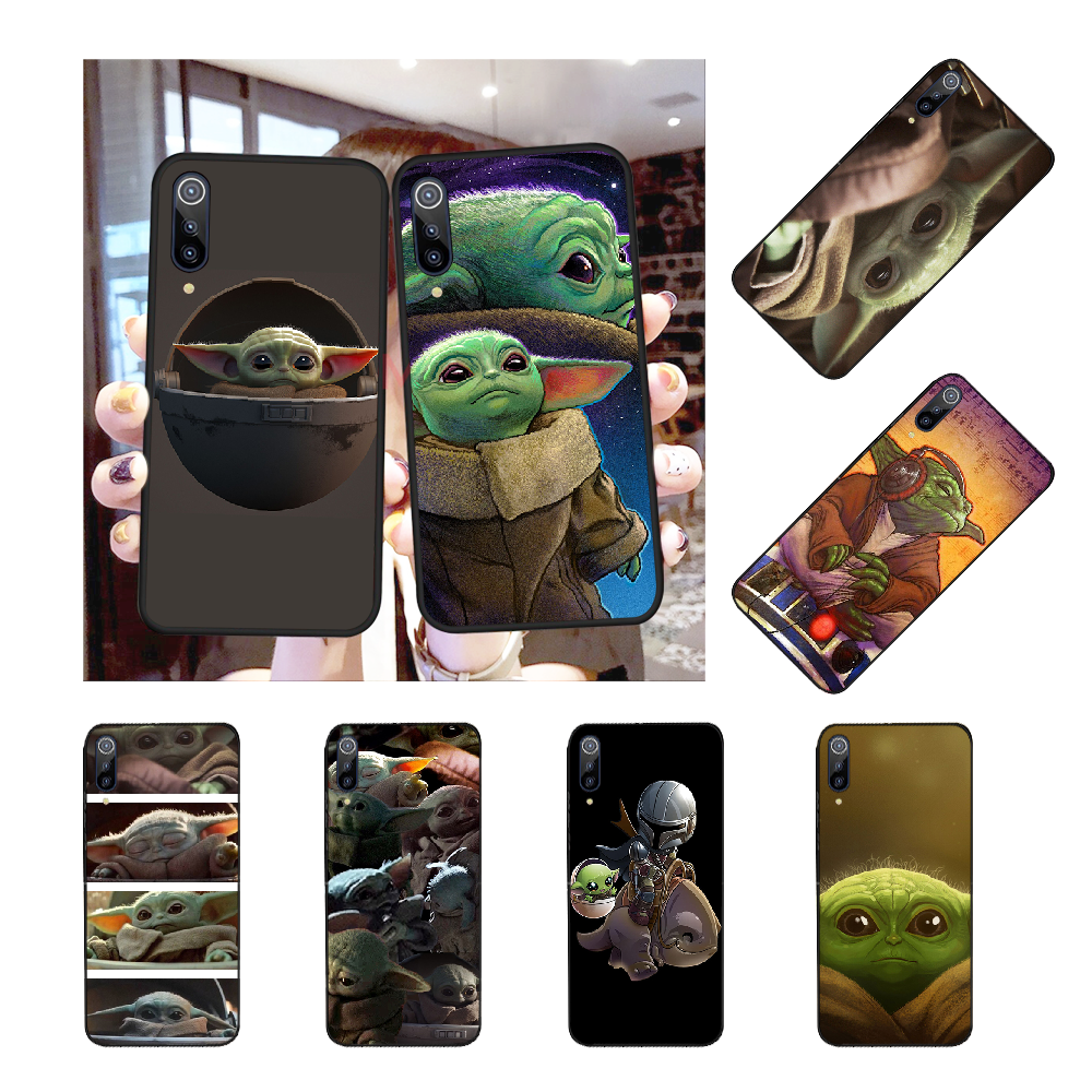 NBDRUICAI Cartoon Baby yoda nette meme Schwarz Soft Rubber Telefon Abdeckung für Redmi Hinweis 8 8A 7 6 6A 5 5A 4 4X 4A Gehen Pro Plus Prime
