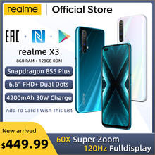 realme X3 Mobile phone 64MP 60X SuperZoom 120Hz Display Snap