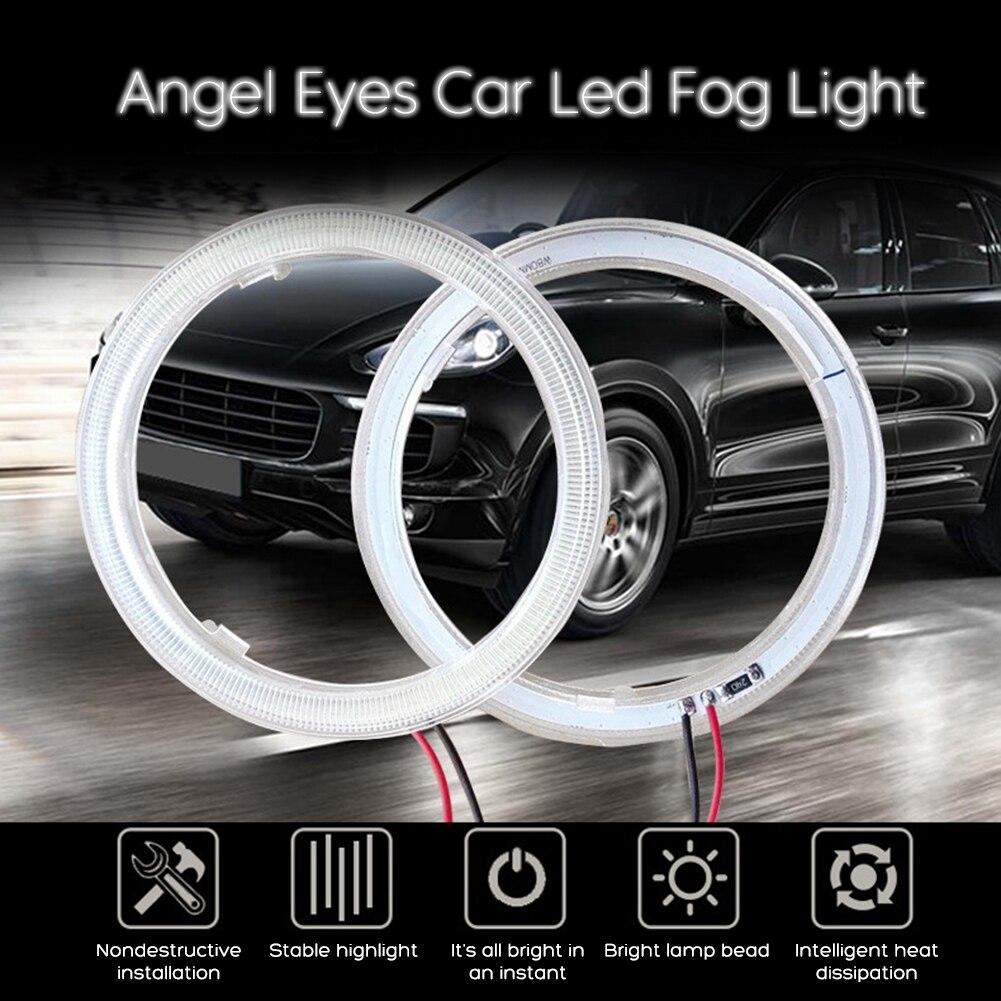 Super Helle Halo Ringe COB LED Angel Eyes Scheinwerfer 60mm 70mm 80mm 90mm 100mm 110mm 120mm Auto Motorrad DRL Glühbirne Lampe