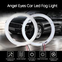 Супер яркий светодиодный Halo кольца COB светодиодный Ангельские глазки головной светильник 60 мм 70 мм 80 мм 90 мм 100 мм 110 мм 120 мм автомобиль мотоц...