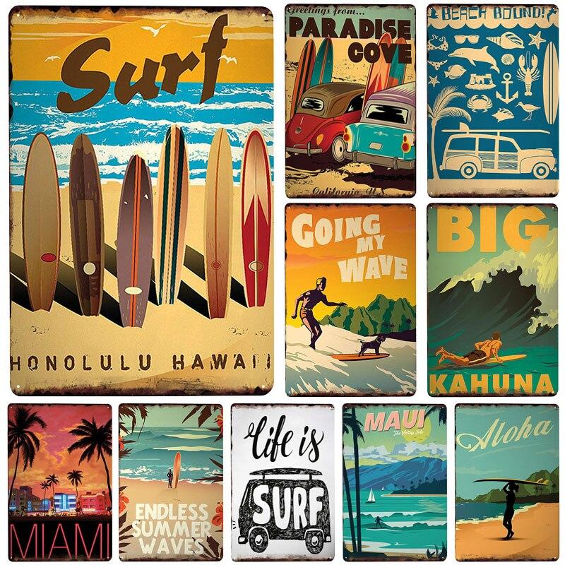 Surf Board Poster Print Surfboard Surf Ups Surfing Gift Surfer Gift Beach Bum
