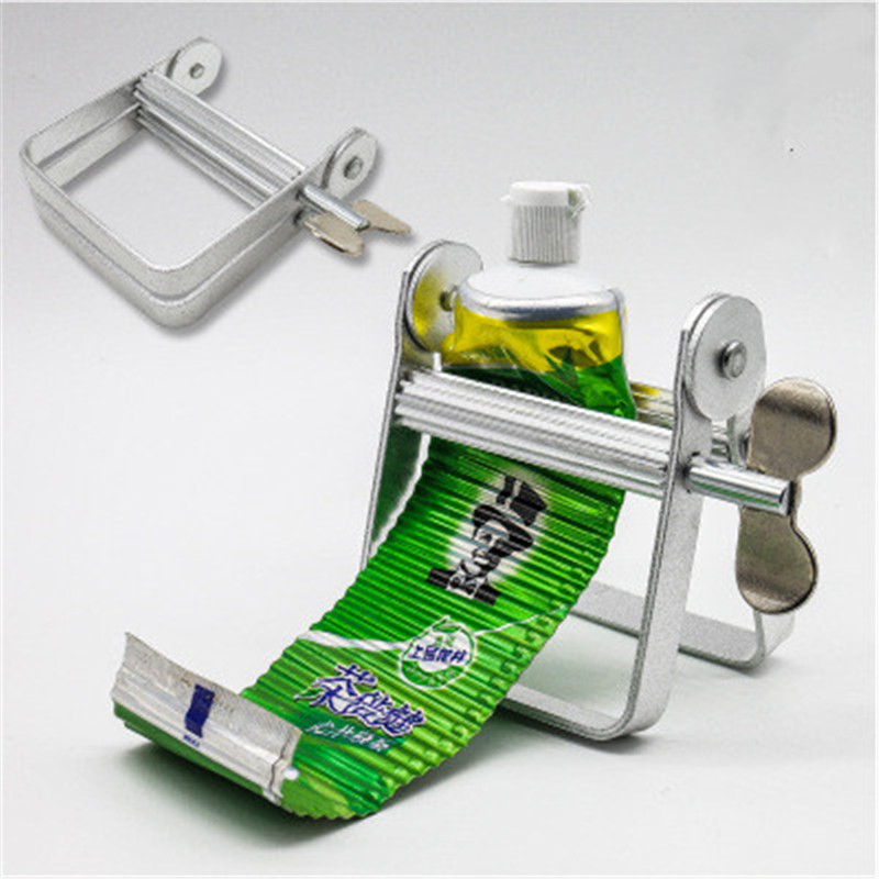 1pcs Tube Squeezer Lazy Toothpaste Dispenser Metal Squeezing Tools Hair Color Dye Cosmetic Paint Squeezer Tube Wringer