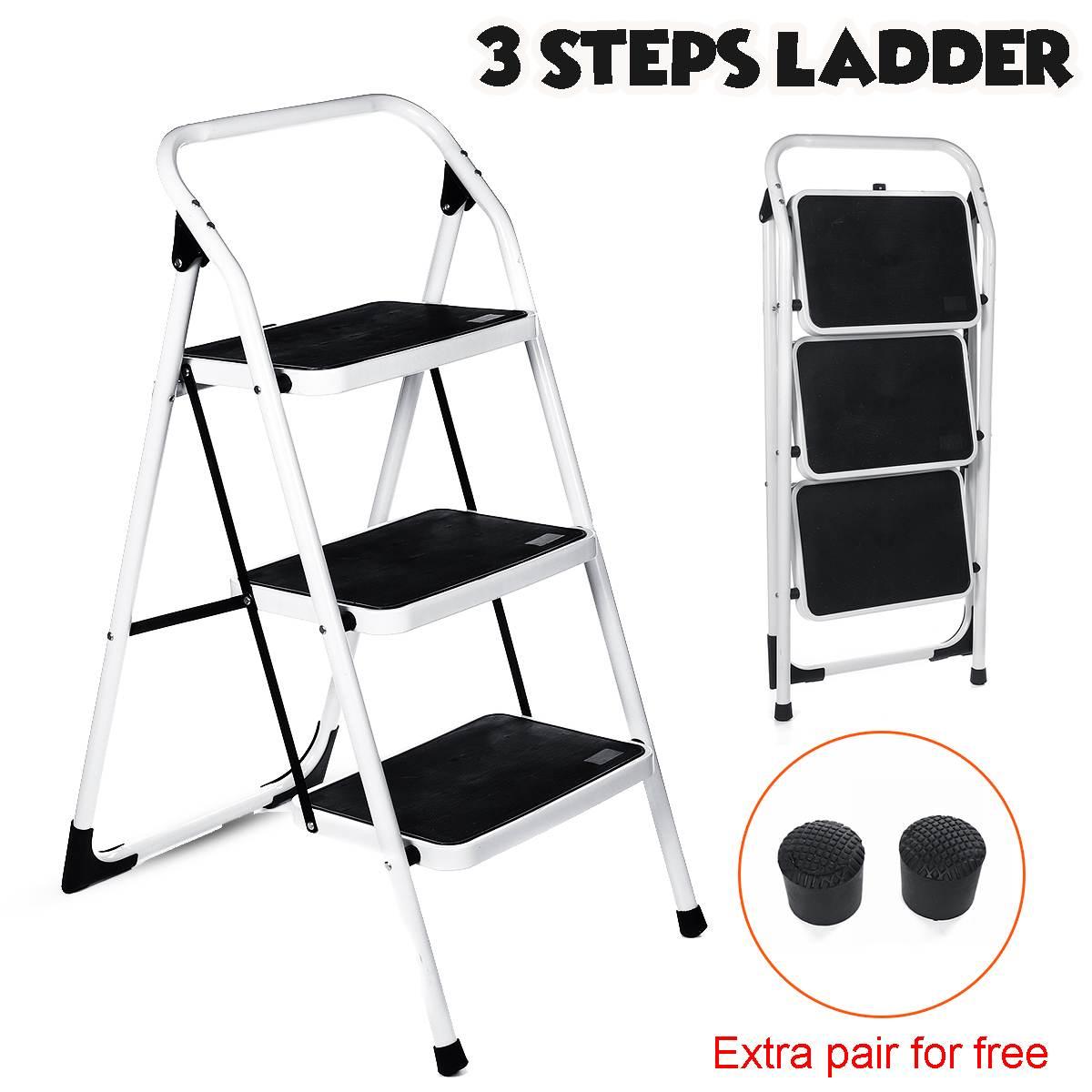 3 Step Ladder Folding Ladders Protable Non Slip For Household Multifunctional Herringbone Ladder Safe Durable