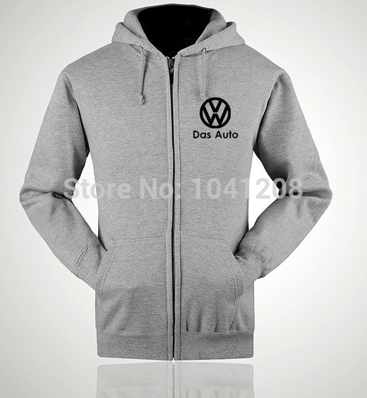 Ectic S~XXL Size 4 Colours Winter Jackets Print Volkswagen VW 4S Worker Clothes Sweatershirt Pullover Casual Gray