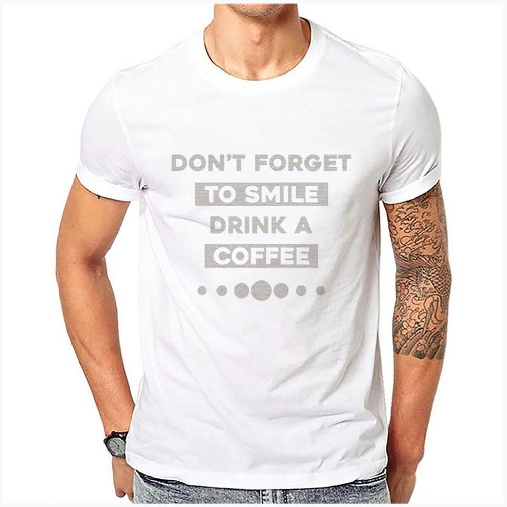Luo Xin Casual T-shirt Smile Text Pattern Bottoming Shirt Men's Short Sleeve One Size Model 29.99