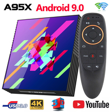 Box TV Google Play Tv box Android 9.0 Rockchip RK3318 4GB 64GB di Smart tv box Bluethooth 2.4/5.0G WiFi Android Tv box PK H96MAX