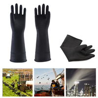 1Pair Thicken Industrial Latex Gloves  Waterproof Industrial Chemical Rubber Gloves|Household Gloves| |  -