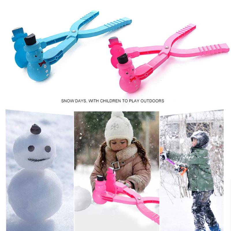 Christmas Snowman Shaped Snowball Maker Clip Children Outdoor Winter Ice Snow Ball Mold Tool Children's Winter Toy Sports