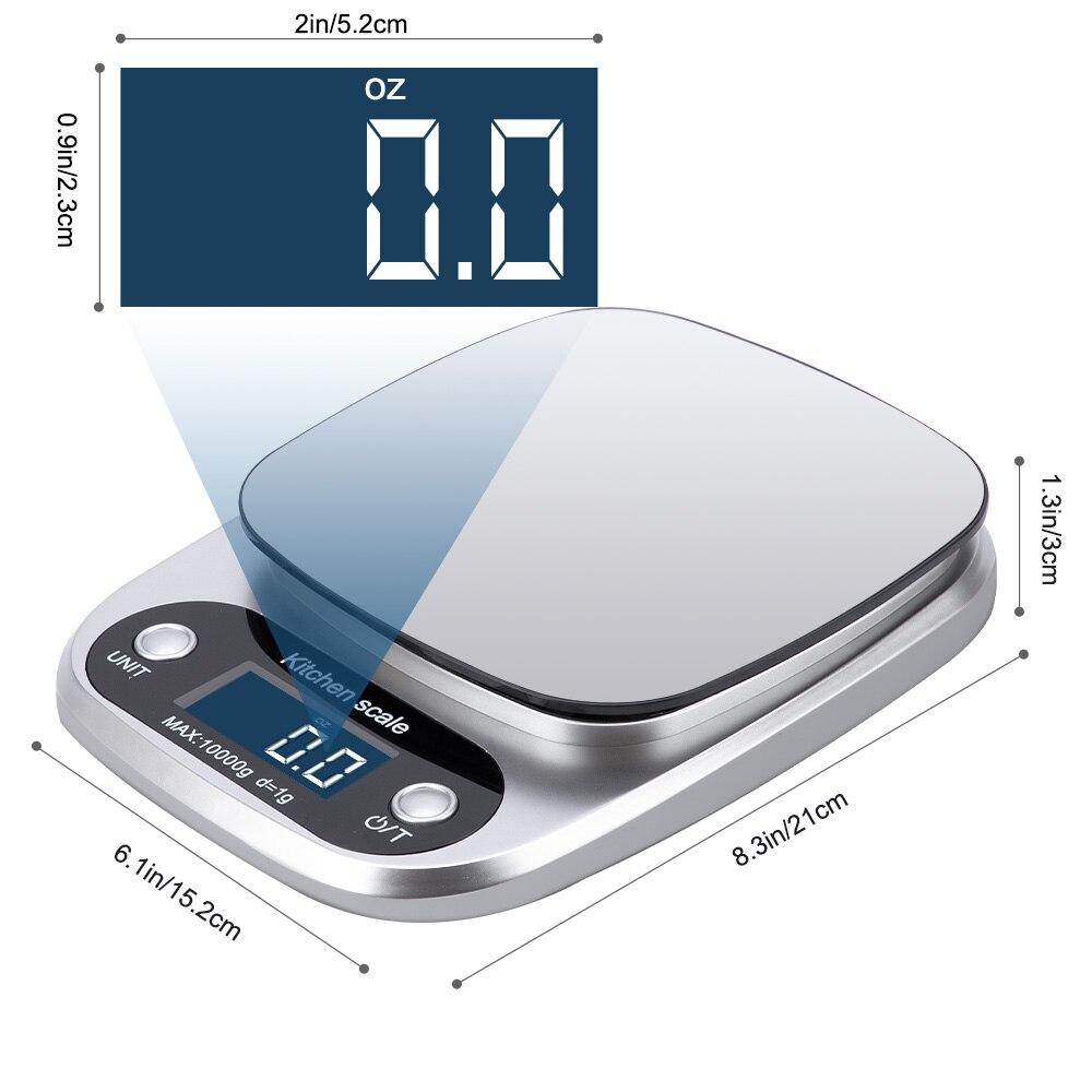 Принимает массу весом до 5 кг/10g Кухня цифровой шкалой ЖК-дисплей электронные весы 1g/0,1g для Еда весы измерительная Вес Весы Почтовый-4