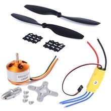 Motor outrunner sem escova, a2212 1000kv + simonk 30a esc + 1045 hélice (1 par) conjunto de rotor quad-rotor para multicopter f450 f550