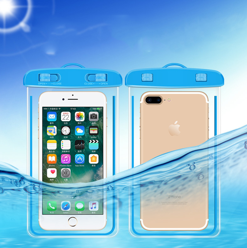 Rsionch Phone Pouch Cover Waterproof Case for iPhone 8 X Xs Max Luminous Bag Samsun Xiaomi Huawei