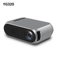 YG320 LED Projector High Quality Focus Lens 1080P 3D Visual 80 inch Screen Home Theater Intelligent Dual Proiector Mini Projecto