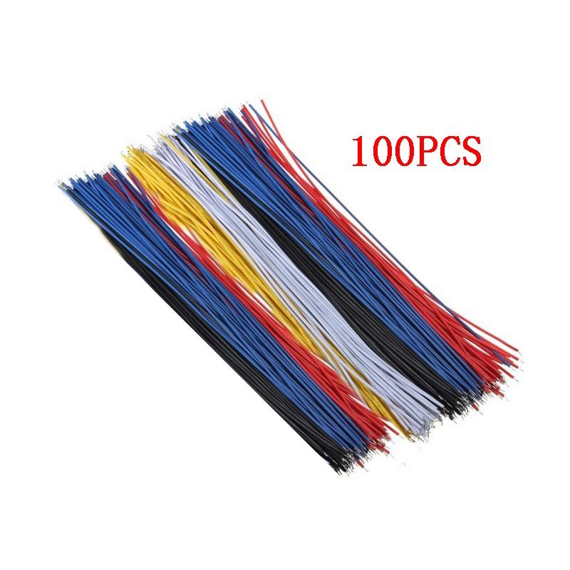 100 шт./компл. гальванически лужёные Макет кабель для пайки ПП 26AWG 20 см Fly перемычек проводной кабель олова проводящие провода 1007-26AWG разъем про...