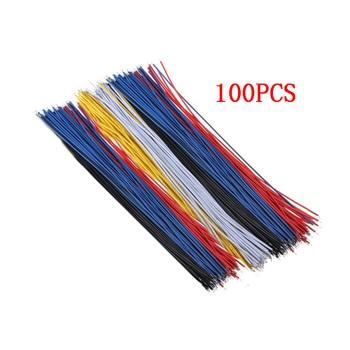 100PCS/Set Zinn-Überzogene Breadboard PCB Solder Kabel 26AWG 20cm Fly Jumper Draht Kabel Zinn Leiter drähte 100 7-26AWG Stecker Draht