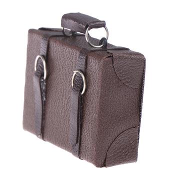 1 szt Domek dla lalek miniaturowa skórzana walizka z drewna Mini lalka pojemnik na bagaże udawaj że bawisz się zabawkowe meble tanie i dobre opinie GJCUTE 2-4 lat 5-7 lat 8-11 lat 12-15 lat Dorośli stop from fire 4 5*4 2cm Luggage Box Unisex