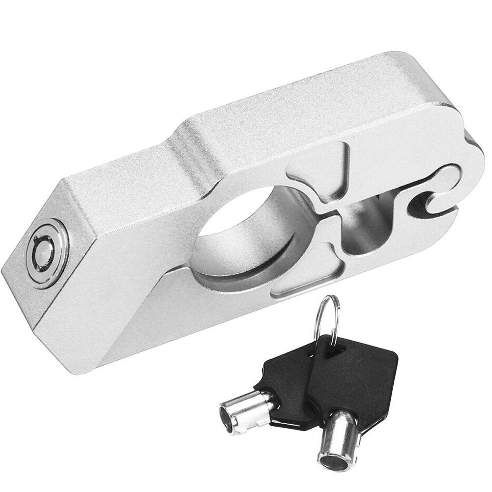 Anti Theft Brake Lever Lock Motorcycle Safety Clutch Security Street Bike Aluminum Alloy Easy Install Universal Scooter Useful