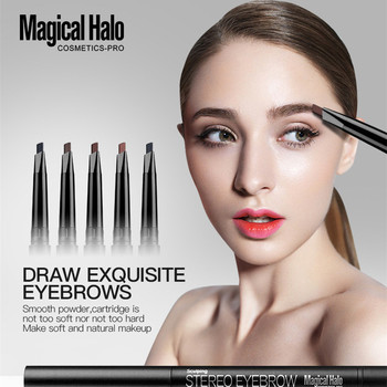 New Eyebrow Pencil Natural Waterproof Rotating Automatic Eyeliner Eye Brow Pencil with Brush Beauty Cosmetic Tool image