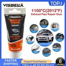 VISBELLA Car Exhaust Filler Exhaust Pipe Repair Glue Sealant High Temperature Auto Motorcycle System Pipe Caulk Repair Paste 75g