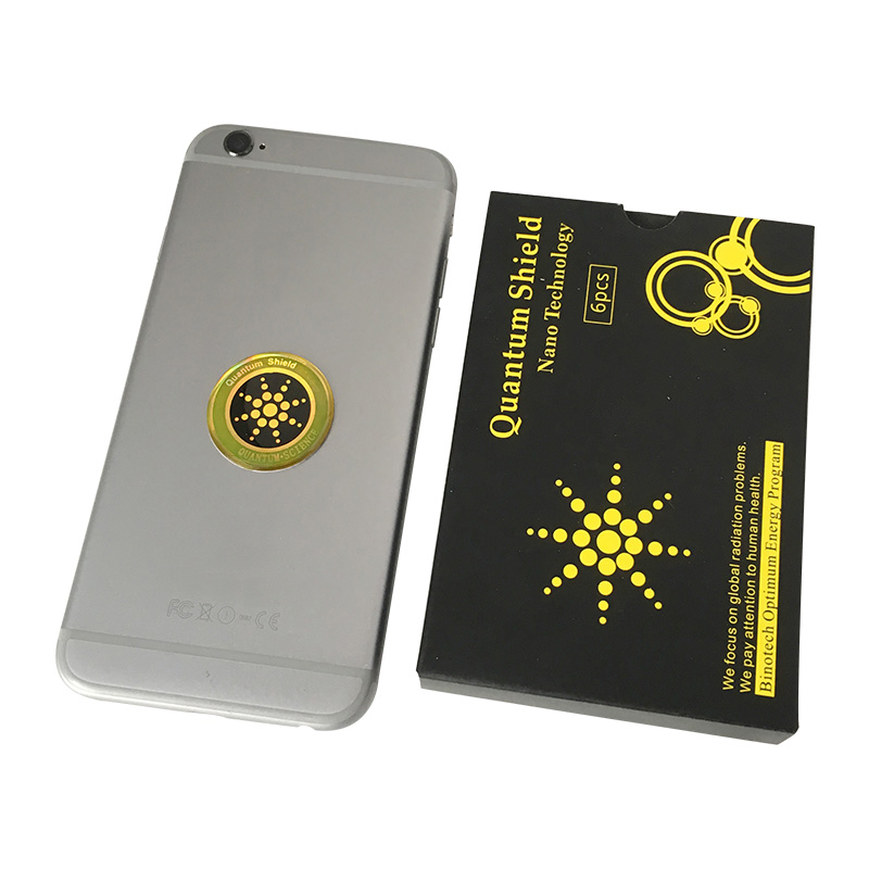100 pièces autocollant de bouclier quantique autocollant de téléphone portable pour téléphone portable Anti-rayonnement Protection de Fusion EMF Excel Anti-rayonnement - 6