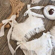 Wriufred Vintage plume sous vêtements robe de mariée ensembles de lingerie bustier tubulaire en coton Non bordé ensemble de soutien gorge sexy blanc fée femmes bralett
