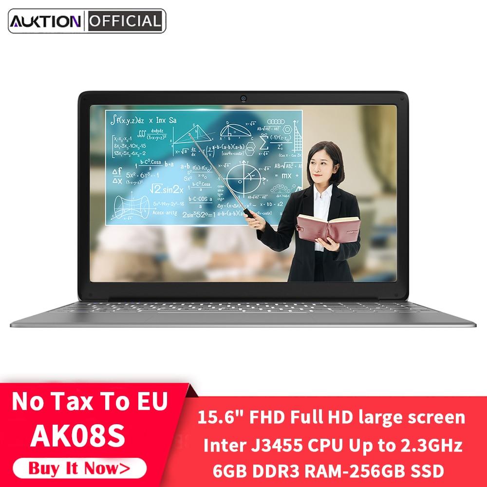 Новый ноутбук AK08S 15,6 дюймов Intel J3455 четырехъядерный 6 ГБ ОЗУ 256 ГБ SSD Windows 10 ультратонкий компьютер ноутбук для офиса учебы