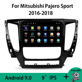 Android 9.0 Car Radio Multimedia Video Player GPS For Mitsubishi Pajero Sport 3 2016 2017 2018 WIFI 4G Mirror Link Carplay OBDII image