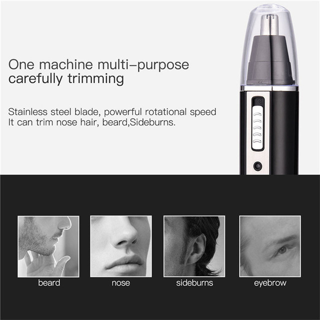 4 In 1 Nose Hair Trimmer For Men Women Ear Eyebrow Trimmer Removal Razor Beard Trimmer Stainless Steel Blades Nose Cutter 3