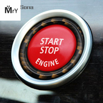 Car Engine Start Stop Switch Button Replace Cover for BMW 1 3 5 Series E87 E90 / E91 / E92 / E93 E60 X1 E84 X3 E83 X5 E70 X6 E71 image