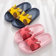 Cartoon Cute Animal Men Home Slippers Summer Sandals Ladies Slides Indoor House Shoes Flip Flops Sandalias Mujer