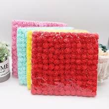 144 pçs 2cm mini espuma rosa artificial bouquet de flores multicolorido rosa decoração de flor de casamento scrapbooking falso flor de rosa
