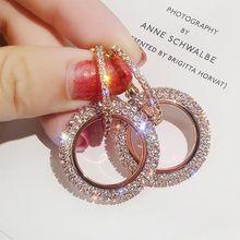 Модные женские серьги с кристаллами креативные ювелирные изделия