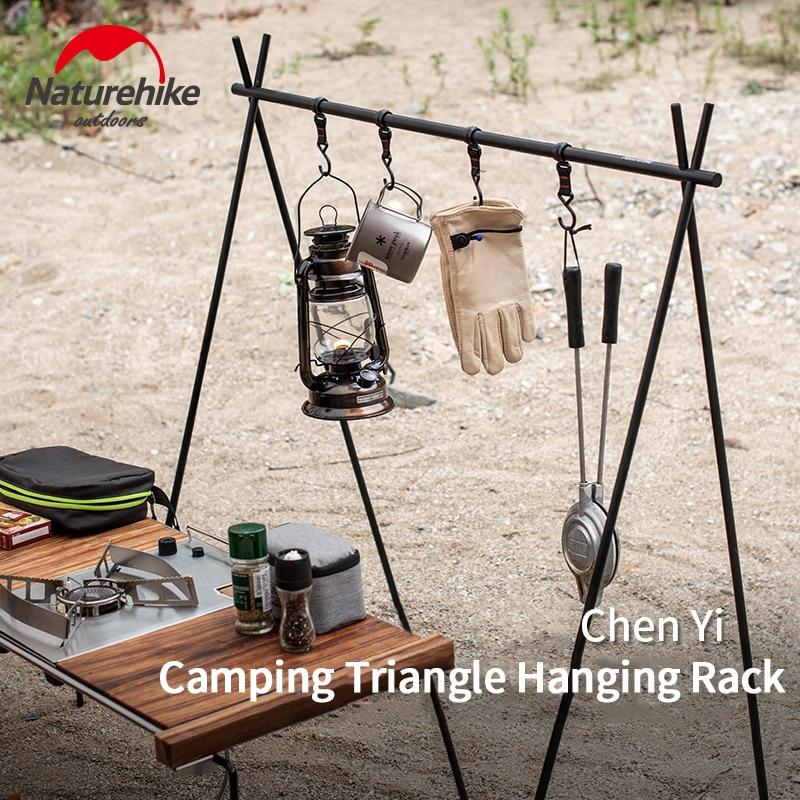 Naturehike Ultralight Indian Hanger Aluminum Alloy Hanging Rack Outdoor Camping Triangular Rack Camp Tableware Cookware Rack