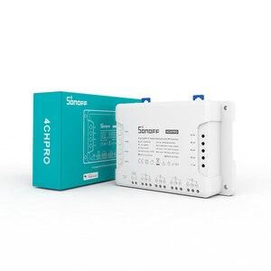 Image 5 - Sonoff interruptor inteligente 4ch pro r3, interruptor de 4 gang por wi fi, com 3 modos de trabalho, intertravamento, casa inteligente, ewelink, interruptor de trabalho com alexa google